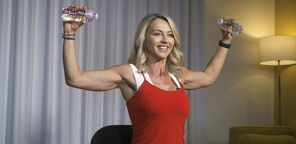 20 min Chair Cardio Workouts with Sylvie Patrick